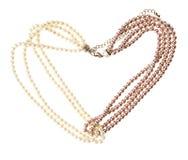 Perla della perla isolata su fondo bianco Immagini Stock Libere da Diritti