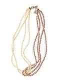 Perla della perla isolata su fondo bianco Fotografie Stock
