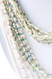 Perla e collana della gemma immagine stock