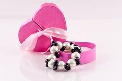 Perla y joyería negra del Onyx Fotografía de archivo libre de regalías