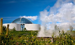 The Perlan and  small geyser Royalty Free Stock Photos