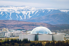 Perlan - water reservoir and restaurant in Reykjavik, Iceland Stock Images