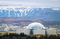 Perlan - water reservoir and restaurant in Reykjavik, Iceland Stock Images