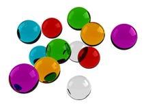 Perlas coloridas Foto de archivo libre de regalías