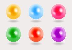 Perlas coloridas en el fondo gris, 3D Imagen de archivo