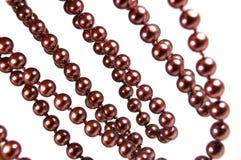 Perlas de Brown fotografía de archivo