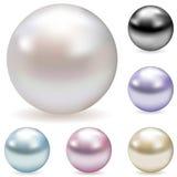 Perlas del color Imagen de archivo libre de regalías