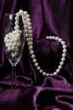 Perlas en flauta Foto de archivo libre de regalías