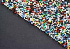 Perlas/gotas plásticas multicoloras Fotografía de archivo libre de regalías