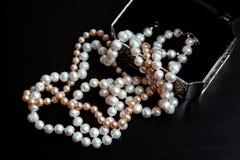Perlas naturales Foto de archivo
