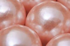 Perlas rosadas Imágenes de archivo libres de regalías