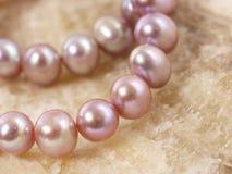 Perlas rosadas Foto de archivo libre de regalías