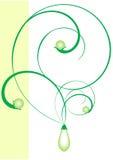 Perlas verdes Fotos de archivo libres de regalías