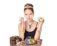 Perlas y diamantes Fotos de archivo libres de regalías