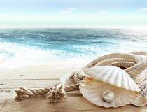 Perle à bord d'un bateau Photo libre de droits