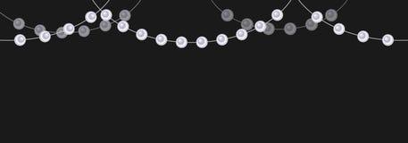 perle beads bijou décoration Vecteur Fond foncé illustration libre de droits