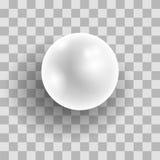 Perle blanche naturelle réaliste Photos libres de droits
