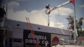 perle Boulder le Colorado 1968 du feu de bâtiment (de film de 8mm) 16ème banque de vidéos