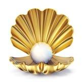 Perle d'or illustration de vecteur