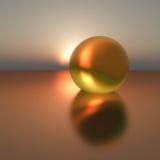 Perle d'or surréaliste Photographie stock