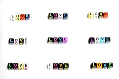 Perle de lumière de note d'alphabet de lettre Photos stock