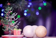 Perle de sapin de Noël Photographie stock libre de droits