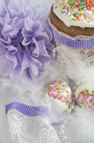 Perle della lanugine del dolce dell'uovo di Pasqua Fotografie Stock