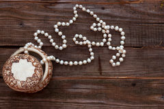 Perle della perla nella scatola Immagine Stock