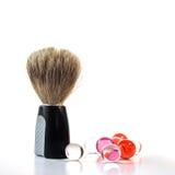 Perle della spazzola & del bagno di rasatura Immagine Stock Libera da Diritti