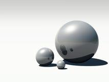 Perle des Schwarz-3D stock abbildung