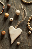 Perle di legno Fotografia Stock
