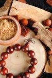 Perle di legno Immagini Stock