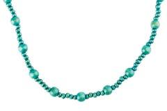 Perle di legno blu Fotografie Stock
