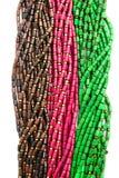 Perle di legno e perle del filo Fotografie Stock Libere da Diritti