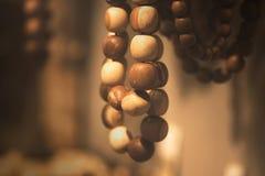 Perle di legno nella macro immagine stock libera da diritti