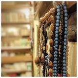 Perle di preghiera in moschea Fotografie Stock Libere da Diritti