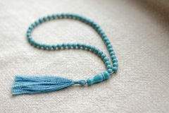 Perle di turchese 108 oggetti Fotografie Stock Libere da Diritti