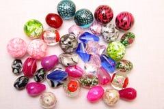 Perle di vetro assortite dei gioielli Fotografia Stock