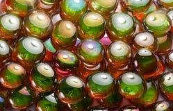 Perle di vetro iridescenti Immagine Stock