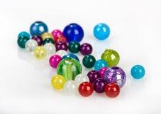 Perle di vetro luminose Fotografie Stock Libere da Diritti