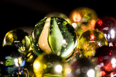 Perle di vetro rispecchiate Fotografia Stock Libera da Diritti