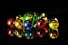 Perle di vetro rispecchiate Fotografie Stock
