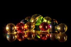Perle di vetro rispecchiate Fotografia Stock