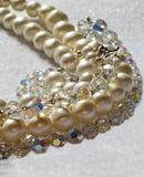 Perle e cristalli fotografia stock libera da diritti