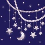 Perle e stelle lucide illustrazione di stock