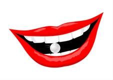 Perle et dents Images stock