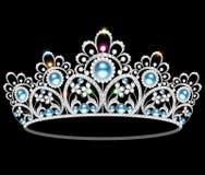 Perle féminine de mariage de beau diadème illustration libre de droits