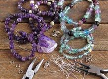 Perle faisant des accessoires Images stock