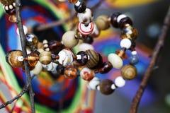 Perle l'abstraction naturelle de pierres de bijoux Photographie stock libre de droits