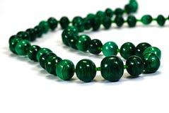perle le collier de malachite Photo stock
